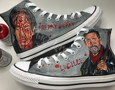 723d4629e36ae8 Walking Dead inspired painted Converse by Ange Lord Art owner. Follow. 312  Likes