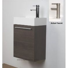 "18"" Small Wall Mount Modern Bathroom Vanity Set CB-T460-GO"