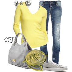A fashion look from December 2012 featuring Dsquared2 jeans, Converse sneakers and MARC BY MARC JACOBS tote bags. Browse and shop related looks.