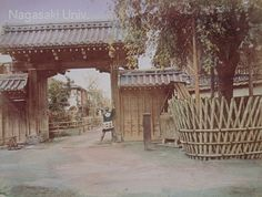 old photo of the Shimabara gate in Kyoto