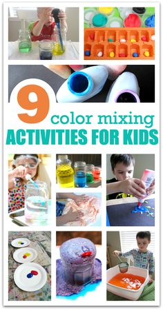 Color mixing activities for young children. Great hands on ways to discover color.