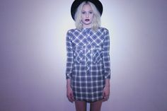 awesome plaid pajama style tunic from fall 2013 available in multiple colors! #fall2013 #voyageclothing #voyage #fashion #hot #plaid