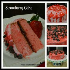 Strawberry Cake with Chocolate Chips - My Honeys Place