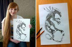 Alien drawing ideas