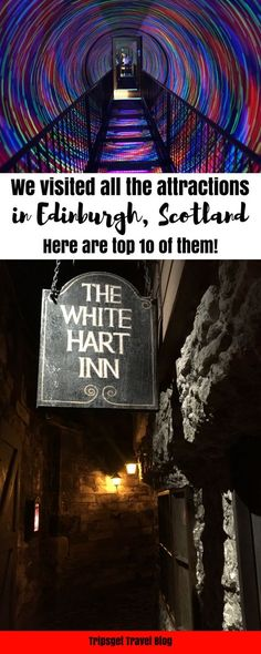 10 absolutely best attractions in Edinburgh, Scotland - Camera Obscura, Edinburgh Castle, Holyrood Palace, Royal Yacht Britannia, Mary King's Close, Edinburgh Vaults, Edinburgh Zoo, Red Panda,