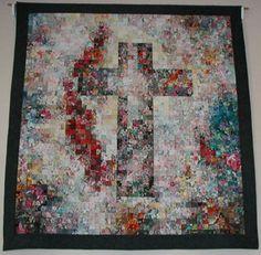 Cross watercolor quilt