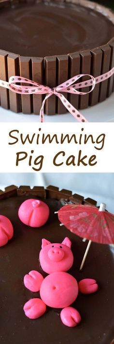 Swimming pig cake!  So much easier than I thought.