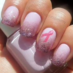 Breast Cancer Awareness nails:)