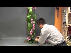 B37 玻璃瓶花新概念 New Concept of Vase Flower Design by Gordon Lee - YouTube