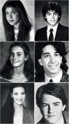 Friends! David Schwimmer with the hoop earring lol