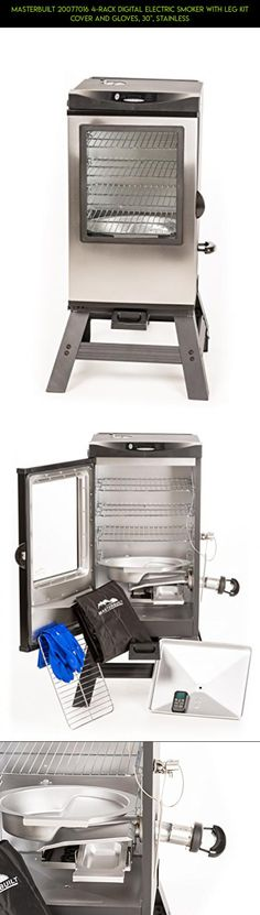 """Masterbuilt 20077016 4-Rack Digital Electric Smoker with Leg Kit Cover and Gloves, 30"""", Stainless #kit #drone #heating #camera #tech #fpv #technology #plans #shopping #parts #products #dish #racing #gadgets"""