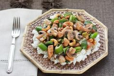 Chicken Recipes Chicken and Peppers with Cashews recipe