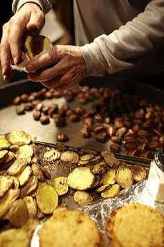 Roast chestnuts, Vienna Christmas Market. http://nickbaylisphotography.com/