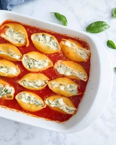 Stuffed Shells Recipe, Stuffed Pasta Shells, How To Make Spinach, Jumbo Pasta Shells, Spinach Ricotta, 9x13 Baking Dish, Cheese Lover, How To Cook Pasta, Food Print