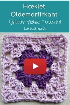 pretty and super stretchy crochet ribbing. Easy and free videotutorial. Crochet Stitches Free, Granny Square Crochet Pattern, Afghan Crochet Patterns, Crochet Squares, Crochet Motif, Knitting Patterns, Granny Square Tutorial, Diy Crafts Crochet, Crochet Projects