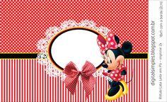 Artes Digitais para Aniversário Infantil Gratuitas, convite Minnie Vermelha, Bis Duplo Minnie Vermelha, Livrinho para Colorir, etc...