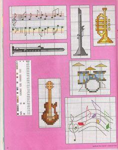 Gallery.ru / Фото #70 - 796 - Yra3raza Cross Stitch Music, Small Cross Stitch, Cross Stitch Books, Cross Stitch Cards, Cross Stitch Designs, Cross Stitching, Cross Stitch Embroidery, Cross Stitch Patterns, Beading Patterns