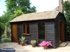 Barn, Workshop/Studio from Back Garden Barn, Workshop/Studio from Back Garden Storage Shed Kits, Workshop Storage, Storage Ideas, Shed Of The Year, Shed Base, Man Shed, Workshop Studio, Workshop Shed, Studio Shed