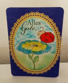 Eine Geburtstagskarte für eine ganz Liebe Bastlerin.  Sie hat sich sehr gefreut. Cover, Crafts, Birth, Amor, Cards, Blankets
