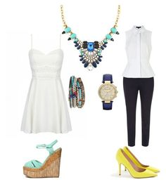 """""""#statementnecklace"""" by sevendaytrends on Polyvore featuring Dorothy Perkins, Alexander Wang, J.Crew, Qupid, Michael Kors and Chan Luu"""