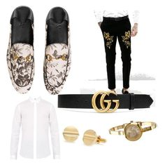 """""""Untitled #5"""" by indiarussell96 on Polyvore featuring Gucci, ASOS, Lanvin, men's fashion and menswear"""