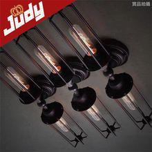 2 têtes lampe peint vintage rétro loft applique murale 90 - 240 V E27 usage edion bulb40-60w(China (Mainland))