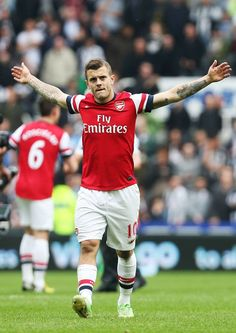 Wilshere After Victory vs Southampton 2013-2014.