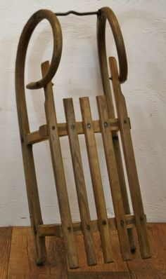 Traditional Wooden Horned Sledge - (oh the terror/memories)