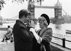 Michael Caine and Shelly Winters