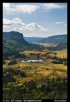 Pagosa Springs valley in the fall. Colorado, USA