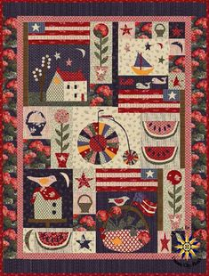 Front Porch Block of the Month designed by Jan Patek