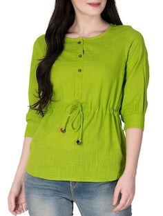 Tops for girls online Short Kurti Designs, Simple Kurti Designs, Salwar Designs, Kurti Neck Designs, Kurti Designs Party Wear, Girls Top Design, Shirt Design For Girls, Tunic Designs, Designs For Dresses