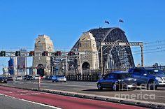#SYDNEY #HARBOUR #BRIDGE - Perspective from Highway..  Prints & Cards at:  http://kaye-menner.artistwebsites.com/featured/sydney-harbour-bridge-perspective-from-highway-kaye-menner.html  -