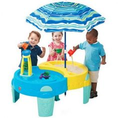 Kids Step2 Shady Oasis Sand And Water Play Table Preschool Outdoor New