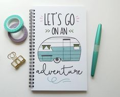 Lets go on an adventure  ------------------------------------------------------------ ABOUT OUR JOURNALS:  -All our journals measure 5.5 x 8.5 inches  -Front covers are printed on 120lb heavy cardstock -Heavy black chipboard backings to provide a sturdy writing surface  -All journals are made with 100 pages (50 sheets) of 24 lb white acid free paper  -Bound together with black twin loop wire. Your journal will lay flat and have full page rotation.  -Your journal will come in a protective…