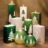 Decorate with Christmas Candles