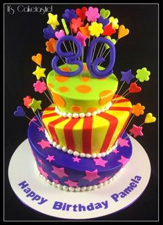 Very Colourful Topsy Turvy Cake! on Cake Central