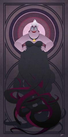 Disney Villains Series Ursula by JonMendez on Etsy http://ibeebz.com