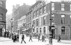 King Street from Haymarket, premises on right include Norfolk Hotel, No Royal Oak, No Newham and Co. Sheffield City, Sheffield England, Sources Of Iron, South Yorkshire, Local History, Derbyshire, Coventry, Heaven On Earth, Norfolk