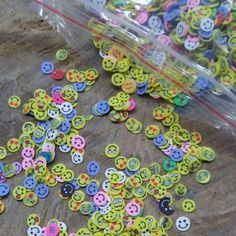 Smiley Face Fimo slices for Slime