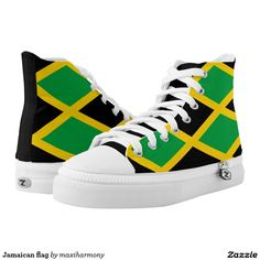 Jamaican flag High Top Sneakers b8b213befdd