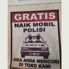 Gratis Naik Mobil Polisi