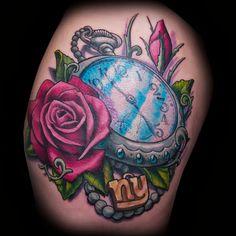 Stylish Clock Tattoo