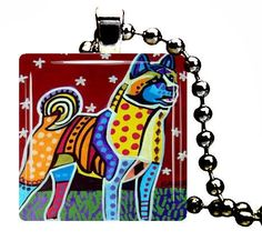 Akita Art Dog Jewlery Dog Modern Art Gift Pendant Necklace Heather Galler Dogs