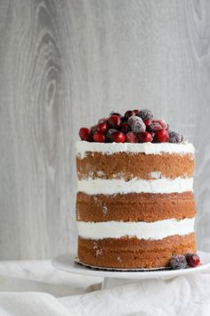 Naked cranberry spice cake ♥
