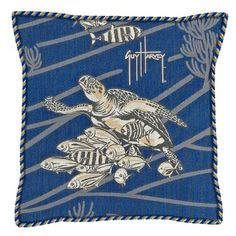 Guy Harvey Outdoors Corded Outdoor Pillow (18in x 18in) by Fiberbuilt