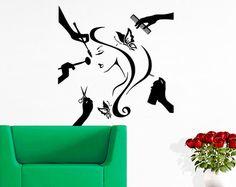 Salón de belleza etiqueta pelo salón de arte moda por CozyDecal