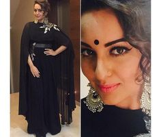 You must be excited about the Diwali Party and also worried about your Look for the tonight party.Get some ideas from the Top 10 Diwali Look. Bollywood Celebrities, Bollywood Fashion, Bollywood Actress, Sonakshi Sinha, Westerns, Jessica Parker, Abaya Designs, Designer Anarkali, Indian Designer Wear