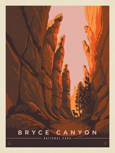 Bryce Canyon National Park: Towering Hoodoos By Kenneth Crane, Joel Anderson, 2020 Document Iconographique, Wall Prints, Poster Prints, American National Parks, Painted Hills, Plakat Design, National Park Posters, Park Art, Parcs