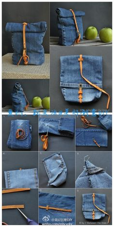 Jeansbein Tasche